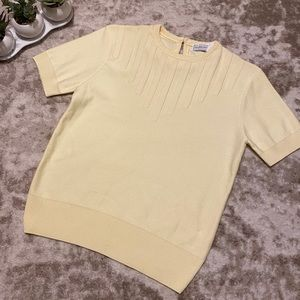 Vintage Givenchy Sport Short Sleeve Knit Top Small